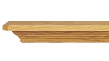 Goodloe Wooden Mantel Shelf with a Medium Stain