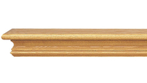 Heatherly Wooden Mantel Shelf -Shown in Red Oak with a Medium Stain Finish