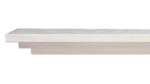 Jennings Wooden Mantel Shelf -Shown in Pickling White