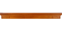 The Manheim fireplace wood mantel shelf