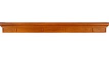The Manheim fireplace wood mantel shelf