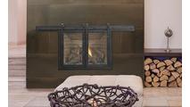 Paterson Sliding Fireplace Door in Matte Black