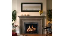 Chalet Masonry Fireplace Door installed