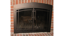 Buckingham Arch Conversion Fireplace Door in Textured Black