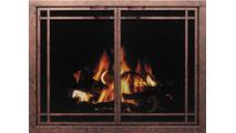 Window Pane Mesh Fireplace Door