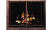 Window Pane Mesh Fireplace Door