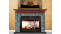 Firelyte  Zero Clearance Fireplace Door in Matte Black