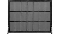 Industrial Fireplace Screen shown in matte black
