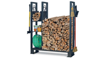Utility Firewood Rack With Shelves In Vintage Iron Finish