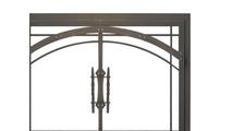 Madrid Fireplace Door in Rustic Black Top Right Corner Detail
