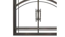 Madrid Fireplace Door in Rustic Black Bottom Left Corner Detail