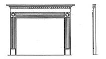 Rickarton Wood Fireplace Mantel