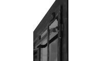 Allegheny Masonry Fireplace Door Offset Decorative Rail Detail in Matte Black