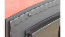 Banding With Rivets On Denali Fireplace Door