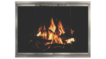Kingsman Zero Clearance Fireplace Door With Pewter Overlay