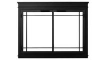 The Mantel Masonry Fireplace Door in Black