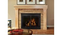 Mantel Fireplace Door in Black