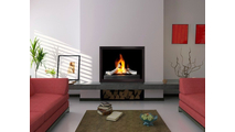 Slim Moderne ZC Fireplace Door in Espresso