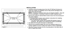 Installation diagram for inside fit doors