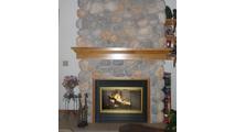 Brookfield Zero Clearance Fireplace Door in Satin Brass
