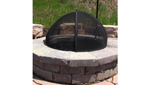 When closed it will completely cover the fire, with plenty of room for logs or media