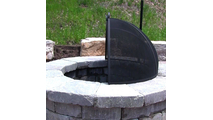 The screen sets on the flat top of a round fire pit