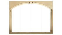 Legend Arched Conversion Fireplace Door in Aztec Gold