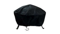 "Heavy Duty Fire Pit Cover for round features 40"" in diameter"