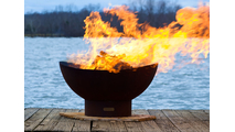 Scallops Wood Burning Fire Pit 36 Inches