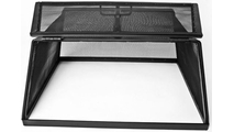 Single hinged door access to Square Fire Pit Screen
