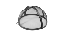 Round Carbon Steel Pivot Fire Pit Screen