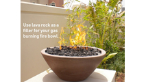 Use lava rock in your fire bowl!