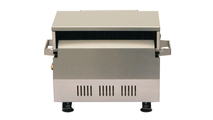 Solaire AllAbout Single Burner Tabletop Grill - back view.