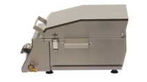 Solaire AllAbout Single Burner Gas Grill - closed, side view.