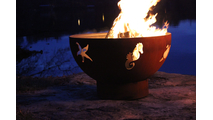 Sea Creatures Fire Pit Burning