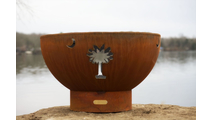 Tropical Moon Wood Burning Fire Pit- 4