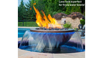 Use lava rock in fire & water bowls!