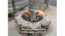 Use lava rock under your gas log set!