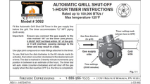 Manual for one hour safety timer