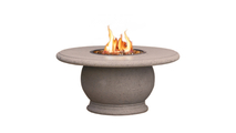 Round Amphora Fire Table in Cafe Blanco