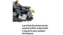 Use lava fyre granules underneath your Beachwood Stack fire pit log set!