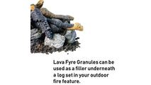 Use lava fyre granules underneath your Beachwood Stack fire pit log set!