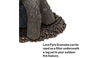 Add granules as a filler underneath your log set.