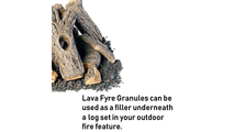 Use lava fyre granules underneath your Campfyre Stack fire pit log set!