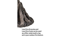 Use lava fyre granules & coals underneath your Desert Sage fire pit log set!