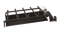 Included G45 burner system with safety valve and and grate
