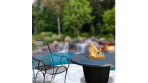 Round Cosmopolitan Fire Table 48 Inch