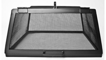 Square Stainless Steel Hinged Fire Pit Screen door view