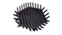 24 Inch Hexagon Carbon Steel Fire Pit Grate with Char Guard