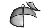 Round Stainless Steel Hinged Fire Pit Screen_1